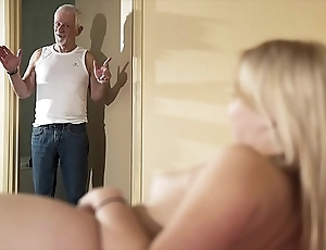 Greeting older man occupy be crazy my cum-hole together with set apart me go for cum