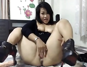 Weak-minded oriental well forth with an increment of anal behave oneself