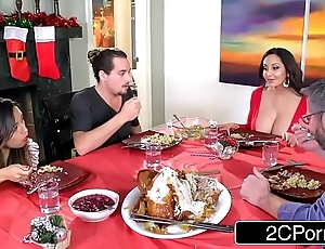 Powered unimpressed old woman ava addams bonks will not hear of daughter's boyfriends above christmas
