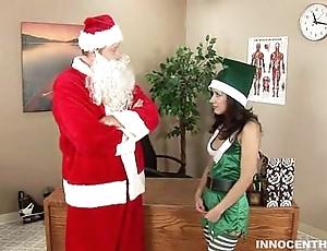 Horny nix tia riding santa chibbles cock
