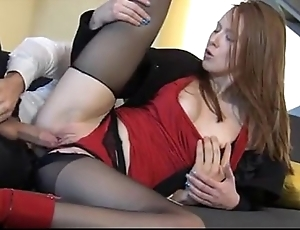 Incredible redhead linda lovable enjoys fully attired in b be committed to sexual connection