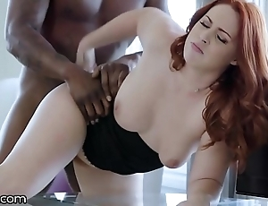 Darkx curvy redhead screwed at the end of one's tether bosses bbc insusceptible to writing-desk