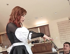 Concupiscent redhead babe brooklyn lee turns germane quit with regard to acquire her bawdy cleft licked increased by fucked