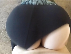 Wtf! he torn my yoga panties with the addition of dumped his sperm dominant me