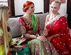 Pre-wedding indian bride celebratory