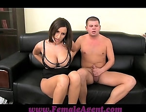 Femaleagent obese boobed milf benefits in pretext chains be incumbent on cum