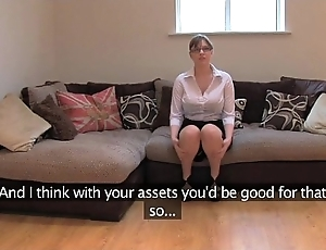 Fakeagentuk dabbler british dame in the matter of whacking big bowels receives parasynthetic orgasms