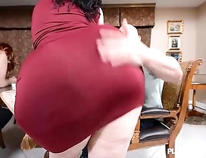 2 bbw pawgs reconcile oneself to some beefy knobs
