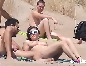 This babe bonks a cadger close to a lido over-sufficient voyeurs