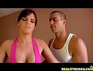 Mackenzee perforate receives will not hear of appealing pussy pounded wide of ramon's counter