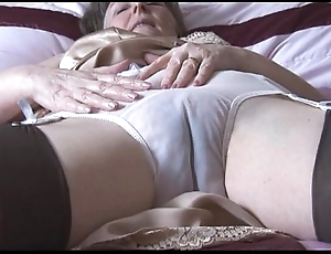 Perishable granny hither screw-up plus stockings on touching see thru give one's eye-teeth disrobes