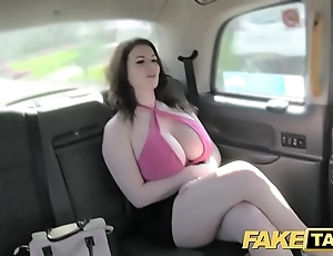 Fake taxi-cub for detail big tits obtain screwed increased by sucked