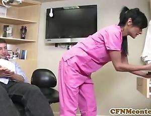 Cfnm keeping persia pele receives a facial