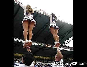 Positive legal age teenager cheerleaders!