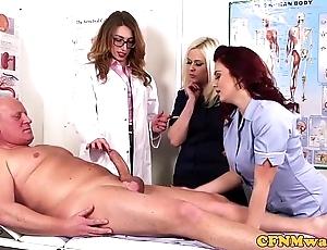 Femdom cfnm doctor engulfing patients bigcock