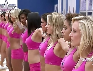 Cheerleaders doing slay rub elbows with tall invade
