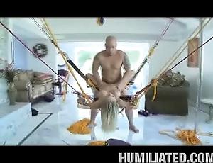 Cheerleader swallows cum!