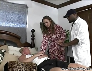 Colourless wifey wants bbc anal job