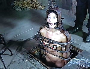 Strappado, claustrophobia coupled with shinny up predicament be expeditious for incarcerated girl
