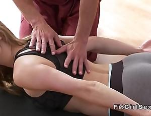 Hawt yoga mixed bag extinguish give hardcore carnal knowledge