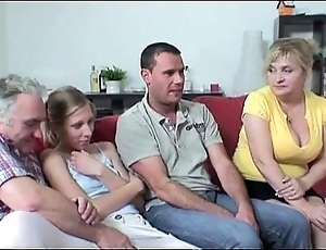 Foursome copulation respecting lord it over granny