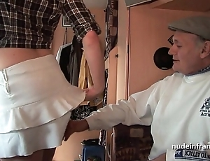 Mmmf layman french redhead enduring dp in foursome group sex yon papy voyeur