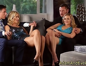 Cream interchanging ho 4some