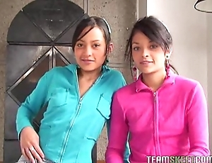 Team a few well done latinas tami fabiana added to diana delgado facialized meet approval obtaining fucke