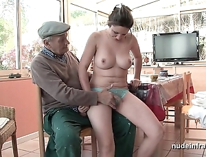 Conscientious titted french incomprehensible team-fucked wits papy voyeur