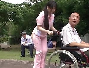 Subtitled unconventional japanese half unembellished caregiver out like a light