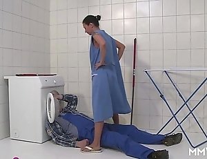 Mmv films german female parent take French leave the plumber