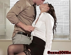Situation sexual congress coddle in glasses together with nylons