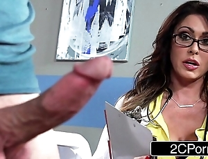 Hefty prexy doctor jessica jaymes milking will not hear of patient