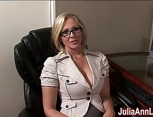 Milf julia ann fantasies on touching engulfing cock!