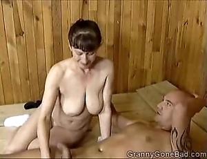 Grannys wretched oral-stimulation