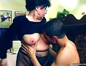 XXX granny acquires screwed in all directions eating-house