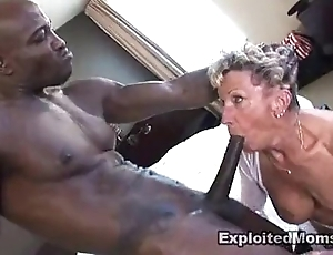 Ancient granny takes a big jet bushwa in will not hear of bore anal interracial videotape