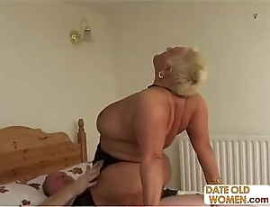 Bbw age-old bimbo ridding