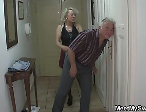 He finds his old woman increased by dad shafting his gf