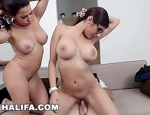 Mia khalifa - featuring obese jugs milf julianna vega... nearby cum shot!
