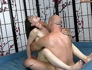 Savage suborn body massage encircling shafting