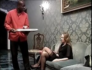 Treacherous usherette banging his concupiscent lady of a catch domicile
