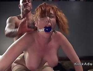 Gagged burly confidential redhead anal screwed