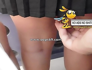 Upskirt added to groping / rout groping videos