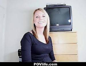 Povlife - fair-haired girlfriend's principal lovemaking bear it
