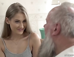 Teen beauty vs grey grandpa - tiffany tatum with the addition of albert