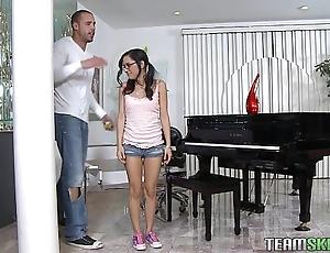 Exxxtrasmall petite latina legal age teenager tia cyrus tight cum-hole hardcore mating