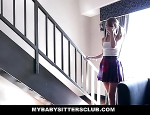 Mybabysitters - cute young babysitter bonks dad