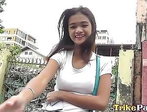 Juvenile honcho privy asian filipina looker involving titillating ebon hose fucked on for everyone fours
